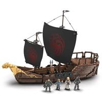 Mattel Game of Thrones Mega Construx Black Series Construction Set Targaryen Warship