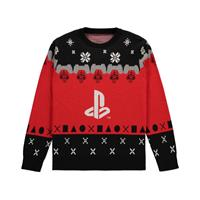 Difuzed Sony PlayStation Knitted Christmas Playstation Logo Size S