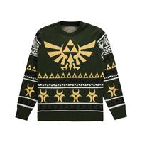 Difuzed The Legend of Zelda Knitted Christmas Sweater Triforce Size XL