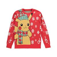 Difuzed Pokémon Knitted Christmas Sweater Pikachu Size XL