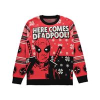 Difuzed Deadpool Knitted Christmas Sweater Here comes Deadpool! Size M