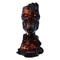 Pure Arts Terminator 2: Judgment Day Replica 1/1 T-800 Endoskeleton Mask Battle Damaged Version 46 cm