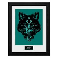 GB eye Assassins Creed Valhalla Collector Print Framed Poster Wolf