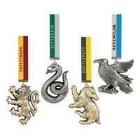 Noble Collection Harry Potter Tree Ornaments Hogwarts Mascots 4-Pack