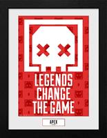 GB eye Apex Legends Collector Print Framed Poster Legends Change The Game