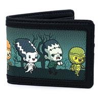 Loungefly Universal Monsters by  Wallet Chibi AOP