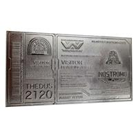FaNaTtik Alien Replica Nostromo Ticket Limited Edition (silver plated)