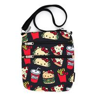 Loungefly Hello Kitty by  Passport Bag Snacks AOP