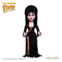 Mezco Toys Elvira Mistress of the Dark Living Dead Dolls Doll Elvira 25 cm