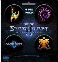 Gaya Entertainment Starcraft II Button 4-pack