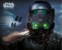 GB Eye Star Wars Poster - Rogue One Death Trooper Glow (50cm x 40cm)