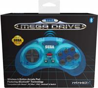 Retro-Bit SEGA Mega Drive Bluetooth Gamepad (Blue)