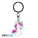 Abystyle Raving Rabbids Keychain - Unicorn