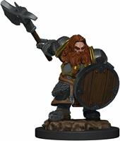 WizKids Dungeons & Dragons Icons of the Realms - Dwarf Male Fighter Premium Figure