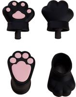 Good Smile Company Original Character Parts for Nendoroid Doll Figures Animal Hand Parts Set (Black)