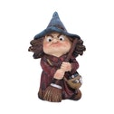 Toil Witch and Broomstick Figurine