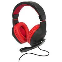 konix DRAKKAR SKALD Gaming headset 3.5 mm jackplug Kabelgebonden Over Ear Zwart, Rood