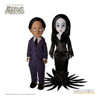 Mezco Toys The Addams Family Living Dead Dolls Gomez & Morticia 25 cm