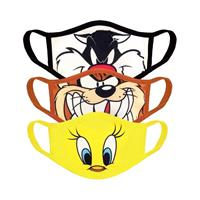 Difuzed Looney Tunes Face Masks 3-Pack Core