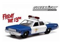 Greenlight Collectibles Friday the 13th Diecast Model 1/18 1978 Dodge Monaco Police