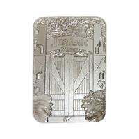 FaNaTtik Jurassic Park Replica Metal Entrance Gates (silver plated)