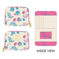Loungefly Disney by  Flap Purse Sleeping Beauty Floral Fairy Godmother AOP