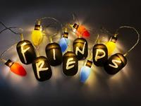 Groovy Friends 2D String Lights Logo