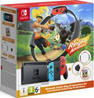 Nintendo Switch - Red/Blue + Ring Fit Adventure Bundle