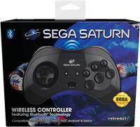 Retro-Bit SEGA Saturn Bluetooth Gamepad (Black)