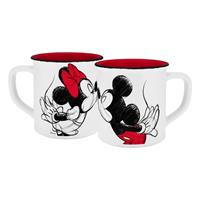 Geda Labels Disney Mug Mickey Kiss Sketch Red