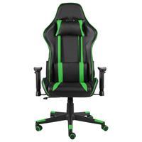 vidaXL Gamestoel draaibaar PVC groen