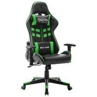 vidaXL Gamestoel kunstleer zwart en groen