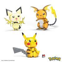 Mattel Pokémon Mega Construx Wonder Builders Construction Set Pikachu Evolution Trio 13 cm