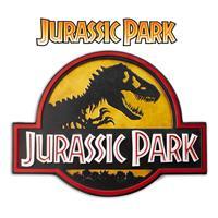 Doctor Collector Jurassic Park Metal Sign Logo