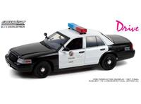 Greenlight Collectibles Drive (2011) Diecast Model 1/18 2001 Ford Crown Victoria Police Interceptor LAPD