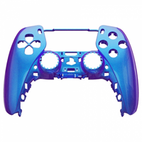 Consoleskins PS5 Controller Behuizing Shell - Blauw / Paars Metallic - Front Shell
