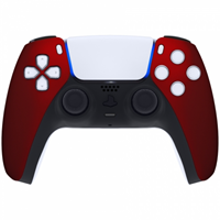 Consoleskins Sony PS5 DualSense Draadloze Controller - Rood Soft Touch Front Custom