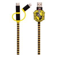 Thumbs Up Harry Potter Retractable Hogwarts Scarf Cable 3in1 Hufflepuff