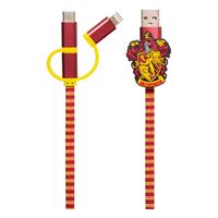 Thumbs Up Harry Potter Retractable Hogwarts Scarf Cable 3in1 Gryffindor