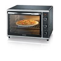 Severin mini oven TO2058 zwart/zilver