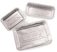 Weber Aluminium druipbakjes Groot, 10 stuks