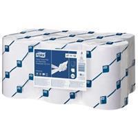 Handdoekrol  2laags wit 143m voor elektronische dispenser voor elektronische dispenser (pak 6 stuks)