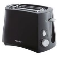 Cloer 3310 sw - 2-slice toaster 825W black 3310 sw
