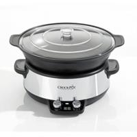 Crock-Pot DuraCeramic Sauté Slowcooker CR027, 6L wit