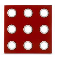 Rosti Mepal onderzetter domino - luna rood 106090075900