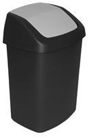 Curver afvalbak swing 25 liter zwart/licht grijs 51x34x28cm (hxlxb)