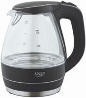 Adler AD 1224 glazen waterkoker 1.5 liter met led verlichting