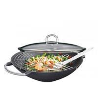 "Küchenprofi ""Gietijzeren wok-set """"Premium"""" - 36cm - """
