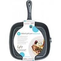 Kitchencraft gietijzeren grillpan - 23cm - kitchen craft