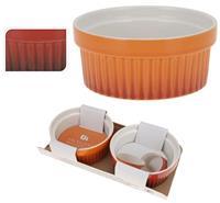 Ovenschaaltjes rammekinschaal dia 11cm set a 2 stuks rood of oranje